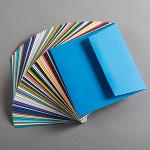BUSTA COLORPLAN AZURE BLUE 15.5x15.5cm GOMMATA GF SMITH}