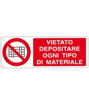CARTELLO SEGNALETICO DIVIETO 1396A ALLUMINIO 33cm x 12.5cm
