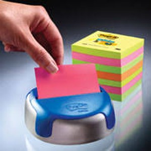 DISPENSER POST-IT Z-NOTES COLORI ASSORTITI 7.6x7.6cm