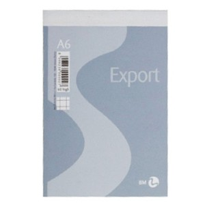 BLOCCO NOTES EXPORT BM 10x15cm A6 5MM 60 FOGLI