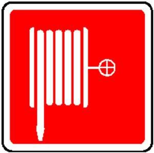 CARTELLO SEGNALETICO ANTINCENDIO 506F ALLUMINIO 25cm x 25cm