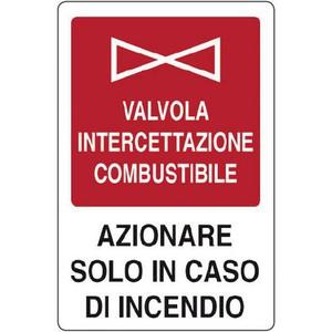 CARTELLO SEGNALETICO ANTINCENDIO 5315A ALLUMINIO 16cm x 21cm