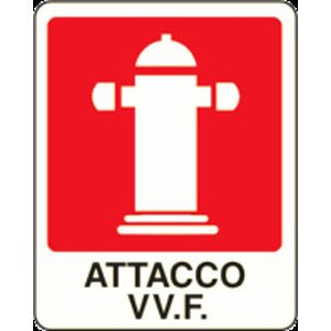CARTELLO SEGNALETICO ANTINCENDIO 562F ALLUMINIO 31cm x 25cm