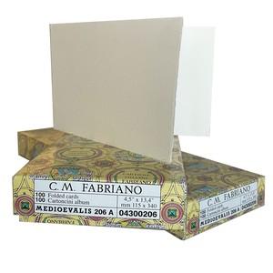 BIGLIETTI MEDIEVALIS AVORIO 11.5x34cm FABRIANO
