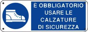 CARTELLO SEGNALETICO OBBLIGO 336A ALLUMINIO 33cm x 12.5cm