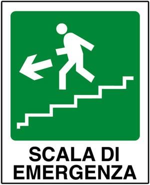 CARTELLO SEGNALETICO SALVATAGGIO 438F ALLUMINIO 25cm x 31cm}