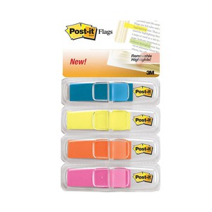 POST-IT INDEX 683-4ABXEU MULTICOLORE 1.2x4.3cm
