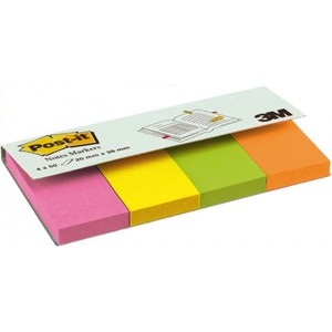POST-IT NOTES MARKER 670-4N MULTICOLORE 2x3.8cm