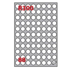 88 ETICHETTE ADESIVE CIRCOLARI IN FOGLI A4 Ø 20mm BIANCHE MARKIN