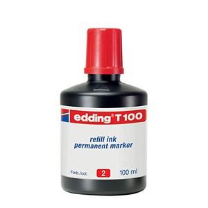 REFILL INK PERMANENT MARKER T100 ROSSO EDDING