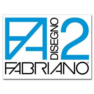 ALBUM DA DISEGNO F2 FABRIANO con Angoli Liscio 20 FOGLI 24x33cm 110gr