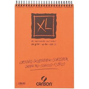 ALBUM SCHIZZO XL CANSON Liscio Spiralato 120 FOGLI 29.7x42cm A3 90gr}