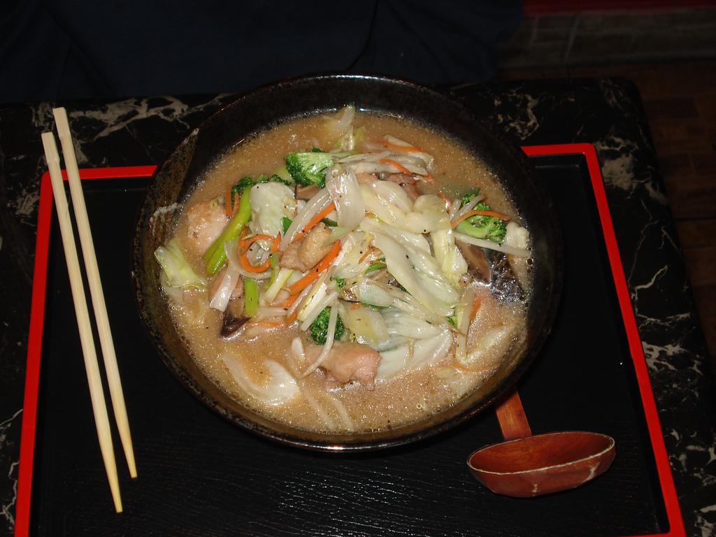 Ramen au poulet à la sauce miso