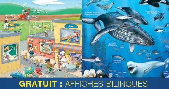 Affiches éducatives bilingues gratuites