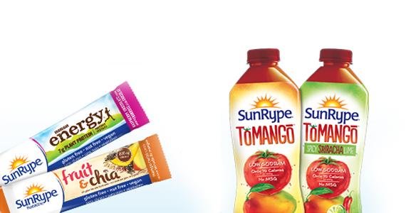 Coupon, barre santé et jus SunRype