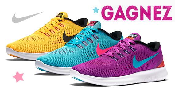 Gagnez une paire de souliers de course Nike