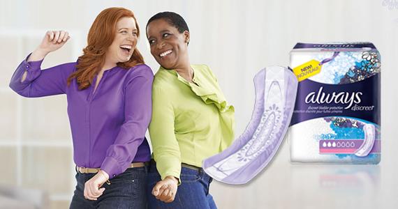 Gratuit – nouvelles serviettes Always Discreet