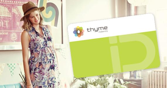 Échantillons et économies chez Thyme maternité