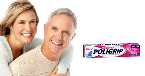 Échantillon de crème pour prothèses dentaires Poligrip