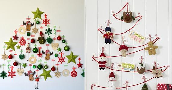 Dix super idées d'arbres de Noël muraux