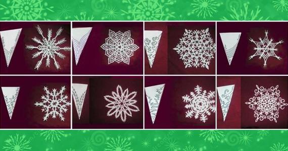 Huit maquettes de flocons de papier gratuites