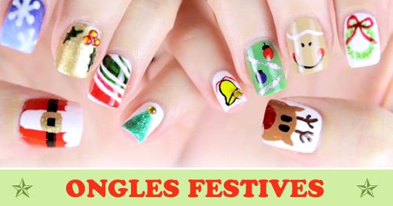 8 tutoriels d'art sur ongles festifs