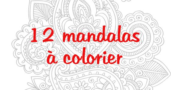 12 mandalas à colorier