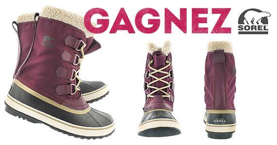 Gagnez une nouvelle paire de bottes SOREL !