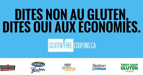 Économisez sur les produits sans-gluten