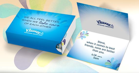 Envoyez des Kleenex gratuits à une amie