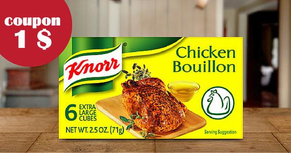 Coupon pour les cubes de bouillon Knorr