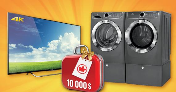 Gagnez – voiture, télé, voyage, laveuse-sécheuse et plus