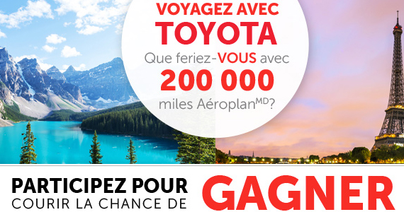 Gagnez 200 000 miles Aéroplan