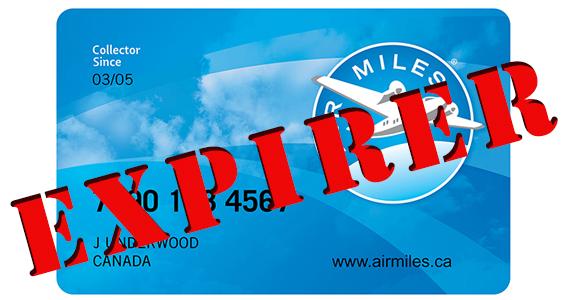 Vos miles Air Miles pourraient expirer bientôt