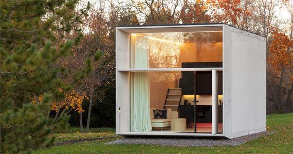 Mini-maison en béton peut être installé en seulement 7 heures