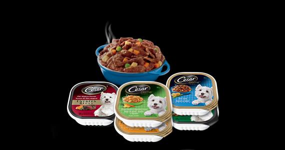 GRATUIT – 5 barquettes de nourriture pour chien Cesar