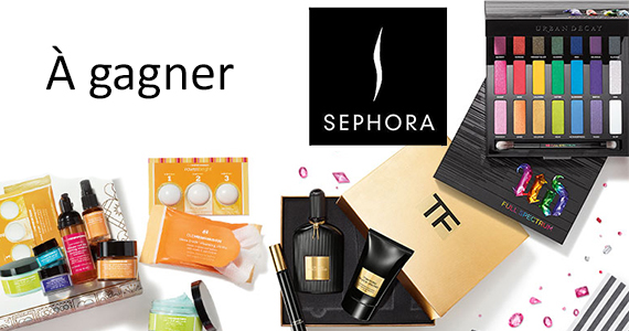 Gagnez une carte-cadeau Sephora de 75 $