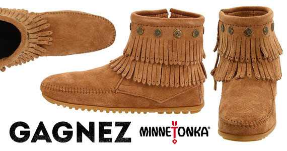 Gagnez une paire de bottes Minnetonka