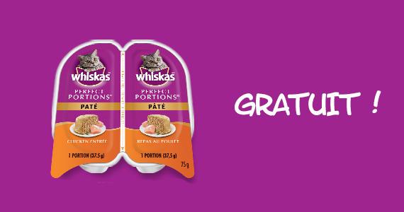 GRATUIT – deux repas individuels Whiskas