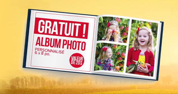 GRATUIT – album photo personnalisé