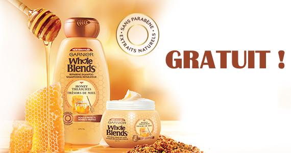 Gratuit – produits Garnier Whole Blends