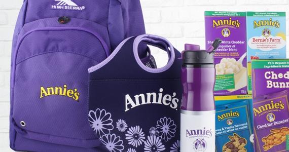 Gagnez un ensemble d'objets et de produits bios Annie's