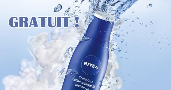 Gratuit – lotion nettoyante tout-en-un Creme Care de NIVEA