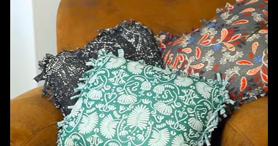 Transformez vos vieilles fringues en joli coussin – sans couture!