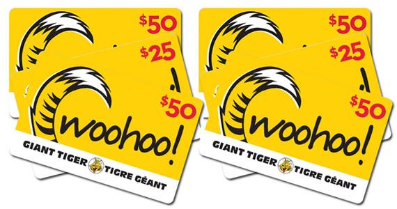 Gagnez 2 000 $ en cartes-cadeaux de Tigre Géant