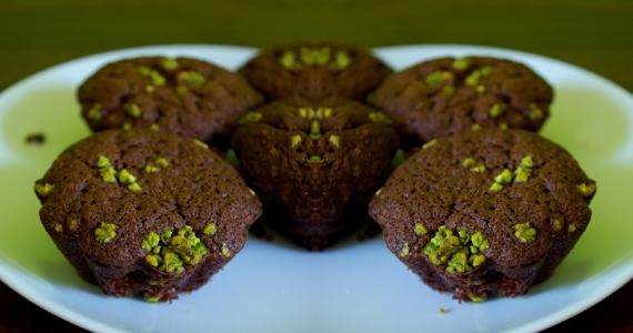 Savoureux muffins chocolat pistache!