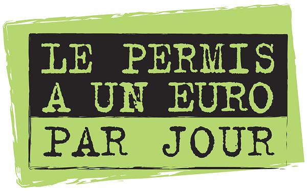 Logo Permis à 1€ par jour