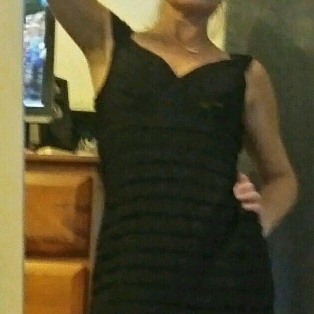 Black Dressy/Smart Casual Mr K Bandage Style Dress