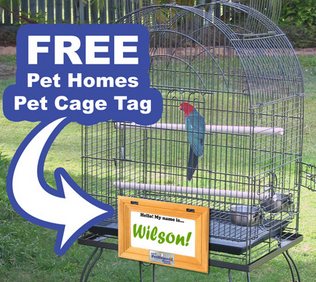 get a Free Pet Cage Tag from Pet Homes