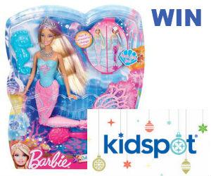Win Mermaid Barbie Doll